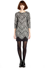 WAREHOUSE LACE PRINT JUMPER DRESS