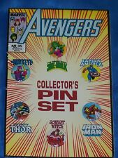 AVENGERS Collector's 6 Pin Set,Captain America, Iron Man, Thor, 1989 SEALED, NEW