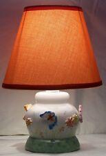Lume lampada abat jour lumetto comodino ceramica Vietri decoro Mariposa farfalle