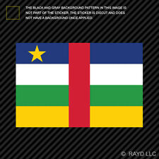 "4"" Central African Republic Flag Sticker Decal Self Adhesive Vinyl CAR CF CAF"