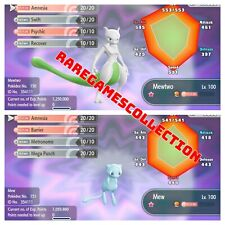 Pokemon Let's GO Shiny 6 IV Mewtwo & Mew Legendary fast delivery