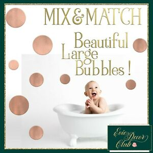 Extra Large polka dots decals Bubble Wall stickers Nursery Polka Dot on the wall