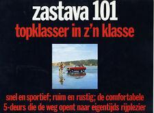 Catalogue brochure prospekt Zastava Yugo 101 Fiat 128 1972 NL