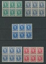 VENEZUELA 1880s SIMON BOLIVAR INSTRUCCION Revenues MNH blocks of 6