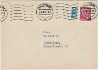 Germany 1955 Hamburg Cancel Obligatory Tax Aid for Berlin Stamps Cover Ref 27356