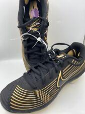 New listing Nike Lunarlon Hyperdiamond Women Size 6.5 Softball Black and Gold