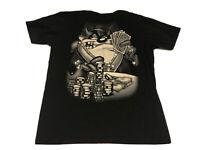 Vtg Taz Looney Tunes WB Money Cash Cards Chain Bling Tee Shirt Men Large Poker