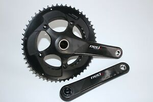SRAM RED CARBON CHAINSET / CRANK DOUBLE ROAD RACE BIKE GXP 11 SPEED *