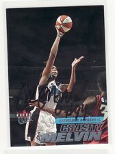 CHASITY MELVIN CLEVELAND ROCKERS NORTH CAROLINA ST AUTOGRAPHED BASKETBALL CARD