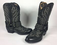Ariat Ats Studded Women's Epic Harness Boots Size 6B 10012877 Black/Gray Hue NEW