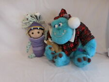 """Disney Pixel Monsters Inc Sully and Mike Christmas Plush Toy 12"""" Boo Doll Disney"""