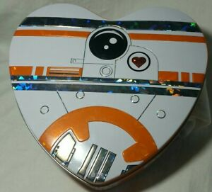 STAR WARS FORCE AWAKENS BB8 DROID HEART COLLECTIBLE CANDY TIN