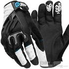 SixSixOne Evo White Gloves Large