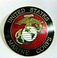 "United States Marine Corps Lapel Pin 1 1/2"" Diameter Semper Fi"
