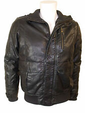 MEN`S FAUX LEATHER JACKET in BLACK COLOR from BLEND SIZE L (M-5)