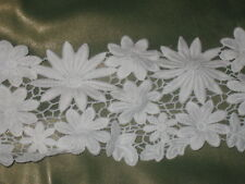 """2 yards in 4 1/2"""" width white color high end heavy crochet cotton/ novelty trim"""