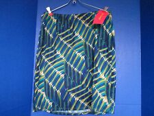 SUNNY LEIGH~Teal Blue Green WOMEN'S SKIRT~Medium~NWT