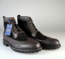 $225 NEW Polo Ralph Lauren Nickson Leather Suede Brogue Wing Tip Boots Sz 7 D