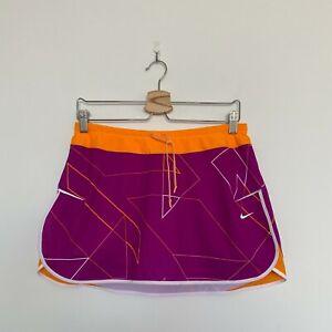 Nike Women's Geometric Print Skort in Fuchsia & Orange Size MEDIUM EUC
