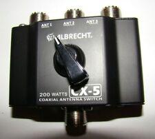 Antennenschalter CX-5 3fach für Amateur- und CB Funk  N E U+OVP