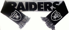 Oakland Raiders Scarf Sixty Four Inch Length Reversible with Split Logo