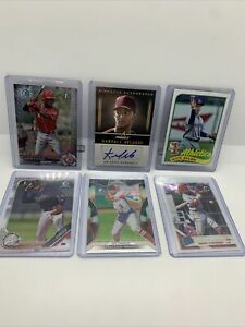 2017 Topps 1st Bowman Chrome Prizm Auto Pinnacle Rated Rookie Card RC Panini Lot