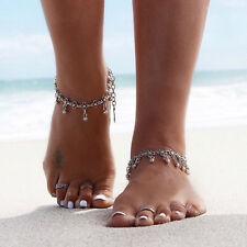 New Tibetan Silver Daisy Foot Chain Dangle Flower Anklet Bracelet Gift