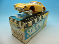 Scalextric E4 French yellow Ferrari 250 Gt in original box, very hard to find