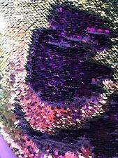 Mermaid Sequins 2tone Iridescent Purple/lilac Reversible Sequins On Spandex Base