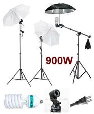 900W Photo Video Studio Light Umbrella Lighting Kit Set