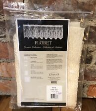 "Heritage Lace Tier Ecru Floret 60"" x 30"" Made in USA 6290E-6030 New Old Stock E1"
