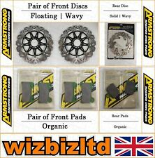 Front PowerSport OE Replacement Brake Rotors Ceramic Pads A6773
