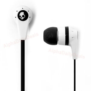 NEW Skullcandy Ink'd 2 Earbud Headphones Microphone Remote White Black