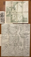 Antique 1883 City Of Boston & Harbor Pair Maps Tilly Haynes United States Hotel