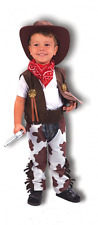 BOY COW BOY TODDLER BR COSTUME FANCY DRESS PARTY WORLD BOOK DAY WEEK KID 2-4 YRS