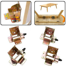4pcs/Set Iron Locking Folding Bracket Folding Table Leg Hinges 75 x 60 x 55mm
