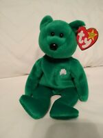 Ty Original Beanie Baby ERIN, Born March 17, 1997 - Green, Retired, Collectible