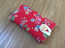 IPhone 5/5 S/5 C/se in tessuto Imbottita Custodia Cover-Cath Kidston Rosso Woodland Rose