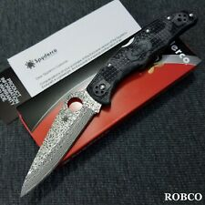 Spyderco Endura 4 Damascus Blade Black-Gray Zome FRN Exclusive C10ZPGYD