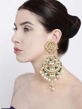 Indian Wedding Women Dangler Long Black Earring Bollywood Diwali Fashion Jewelry