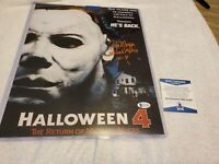 "Tom Morga signed 11"" x 14"" Michael Myers Halloween 4 Photo - Beckett COA W/ Incs"