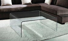 Glass Waterfall Style Square Coffee Table