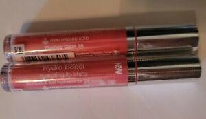 2x Neutrogena Hydro Boost Hydrating Lip Shine  (Flushed Coral 30)