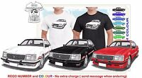 CLASSIC 80-81 BROCK COMMODORE ILLUSTRATED T-SHIRT MUSCLE RETRO SPORTS CAR