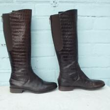 Hobbs Leather Boots Size Uk 5 Eur 38 Sexy Womens Elasticated Croc Brown Boots