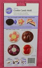 Flowers Chocolate Cookie/Candy Mold,Wilton, Clear Plastic, 2115-1351