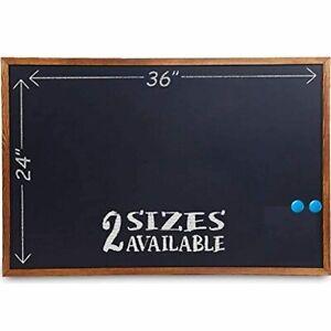 Wood Framed Chalkboard - 36x24Large Magnetic Rustic Wall Chalk Board Chalk Board