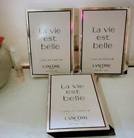 X3 Lancome La Vie est Belle L'eau de Parfum .05oz Trial Spray Vial NEW!