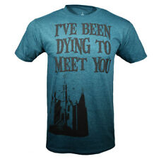 Men's T-shirt Disneyland Haunted Mansion  I've been Dying to Meet You NEW TEAL