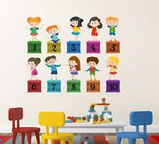 Happy Numbers Wall Sticker Mural Vinyl Decal Art Home Room DIY Decor Wallpaper